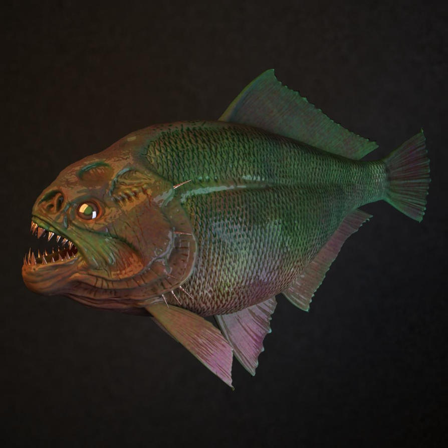 New 3D Asset: A Piranha Fish By Cvbtruong On DeviantArt