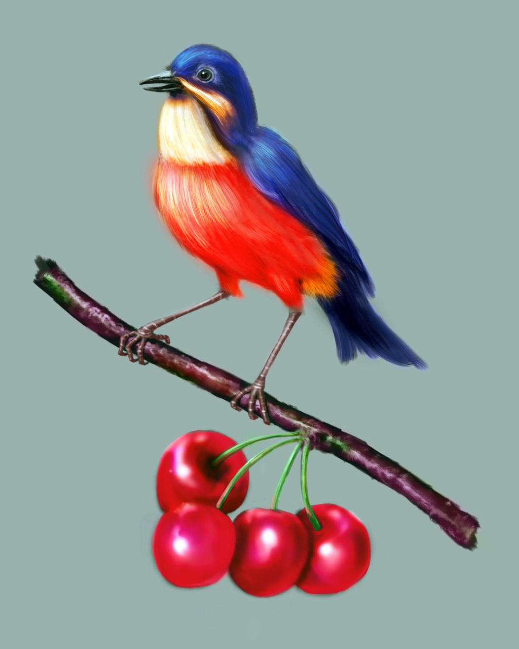 bird painting by cvbtruong on deviantart