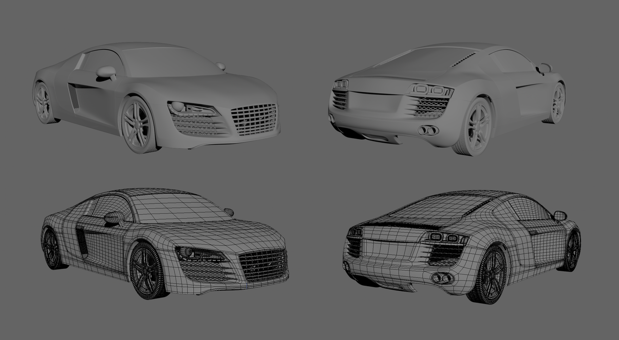 Audi R8 - WIP by philippon
