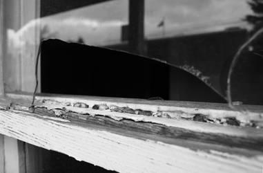 Broken window.