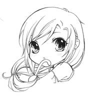 Lineart For Share - 11 Final Fantasy Tifa Sweet by TashaChan