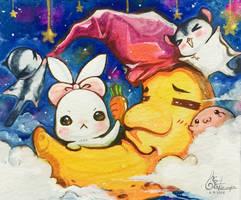 Original Chara on the moon by TashaChan