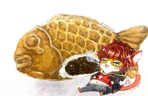 Fanart : 707's Taiyaki (Fish Shape Bun)