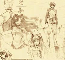 Fate sketches dump by nekomukuro