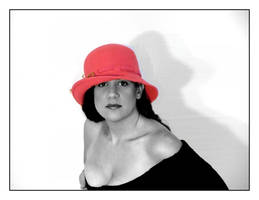 Girl with a pink hat