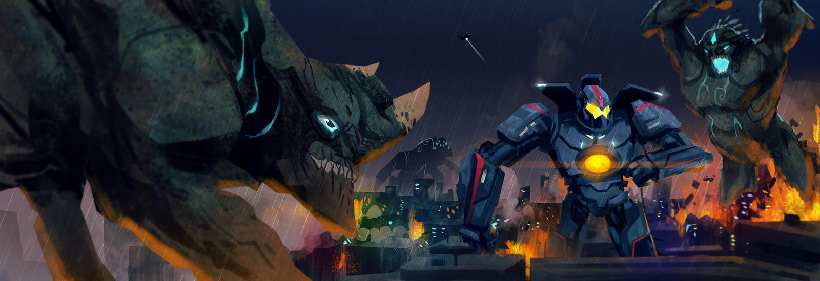 PR Kaiju Attack by Toyebot