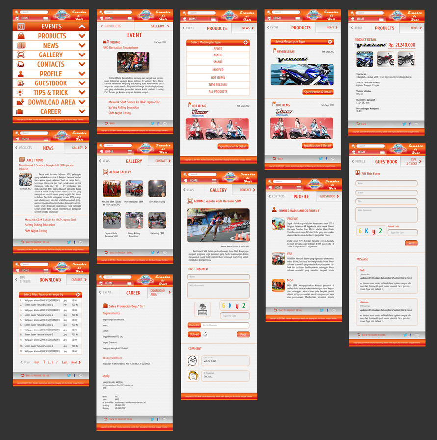 Mobile web design by yudhaprihantoro on deviantart for Mobel design