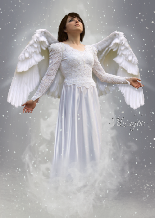 Snow Angel~ by VDRagon1964