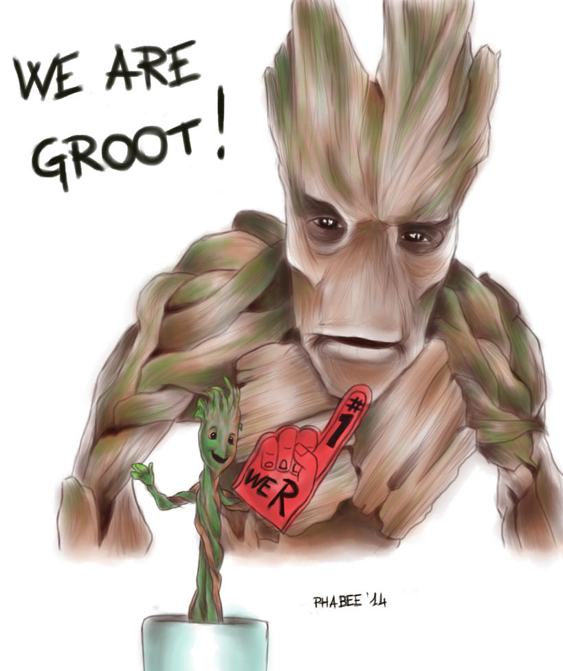 We are groot by Phabee