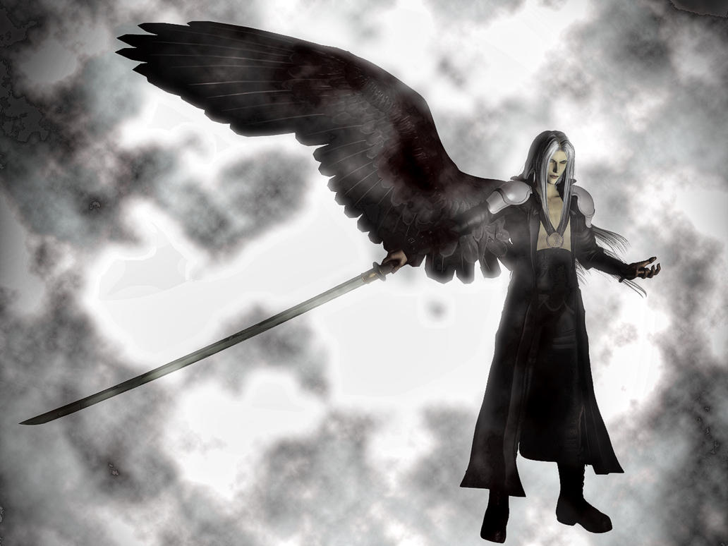 Sephiroth Wing Sephiroth The One-Winged Angel