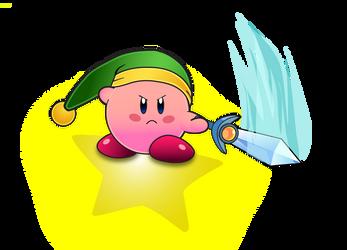 Sword Kirby on Warp Star by ST-Attidude
