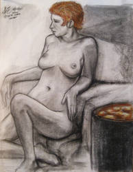 Red Haired Female Nude by ST-Attidude