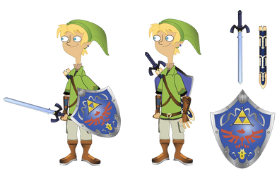 Jeremy Johnson as Link with Platypus Shield by ST-Attidude