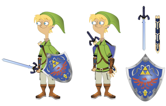 Jeremy Johnson as Link with Platypus Shield