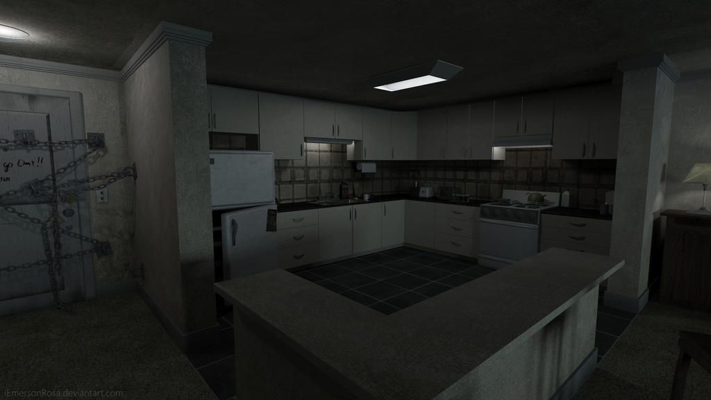 Kitchen Silent Hill 4 The Room By Iemersonrosa On
