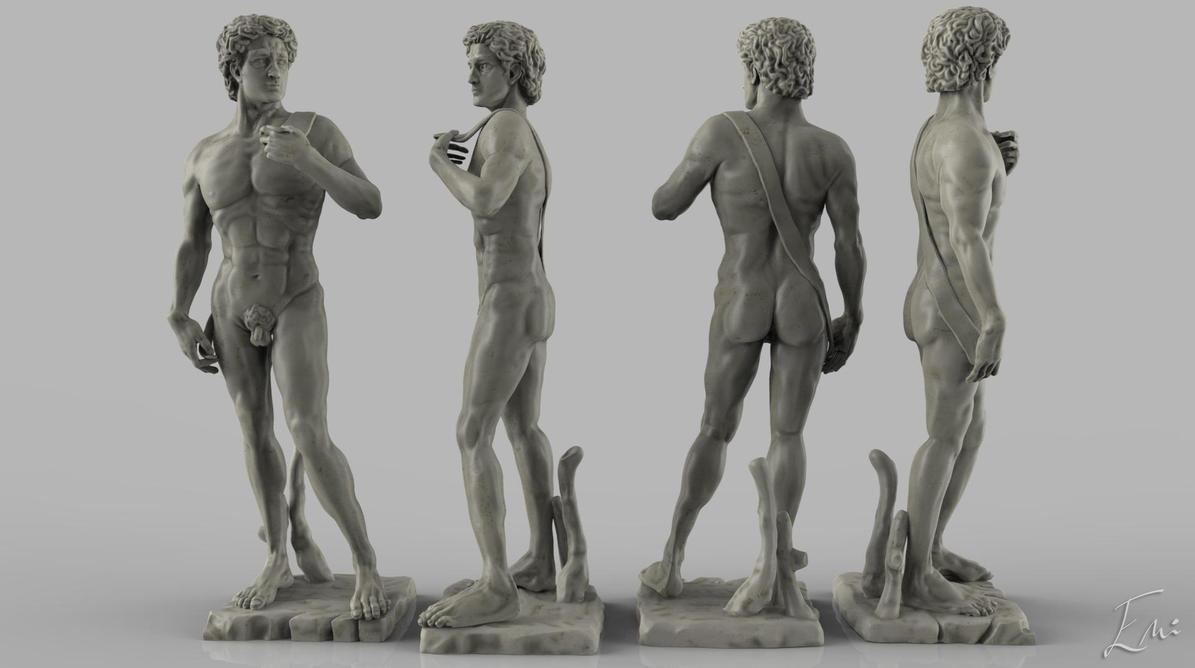 Michelangelo's David by iemersonrosa