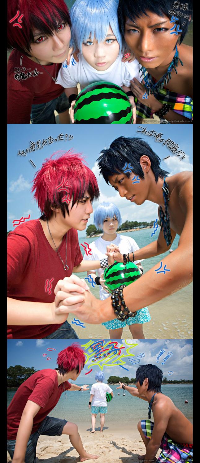 Kuroko no Basket - beach ver by herotenka
