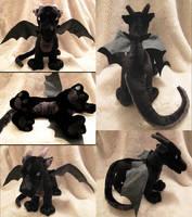 Black Dragon Plushie by Astrocat