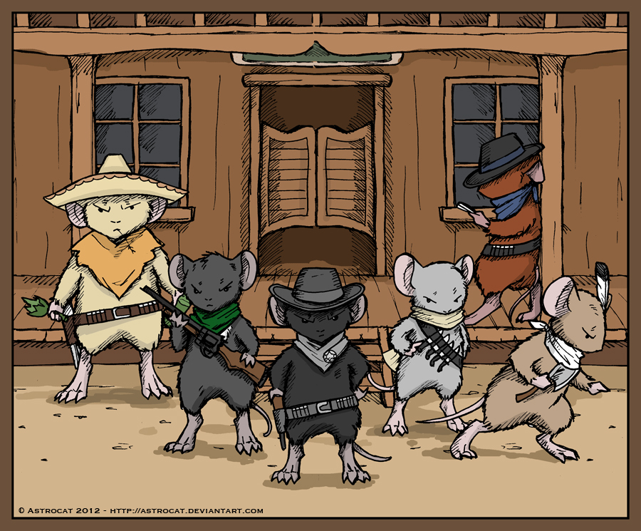 Wild West Mouse Guard by Astrocat