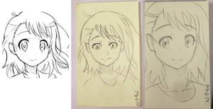 Progression copying face by Kaeferthias