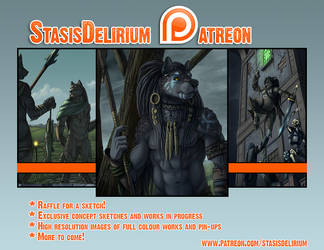 Patreon Promo for March by Staticstealer