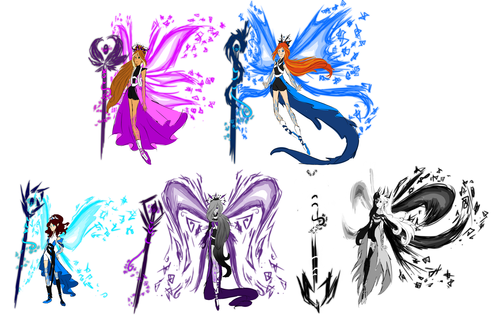 Insignix Sketches by SorceressIgnis