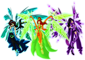 Insignix Fairies: Trio by SorceressIgnis