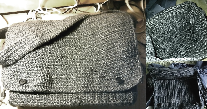 Crochet Messenger Bag By Mandatrain On Deviantart