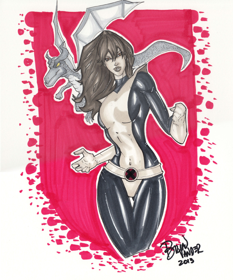 Kitty Pryde Copic by BrianVander