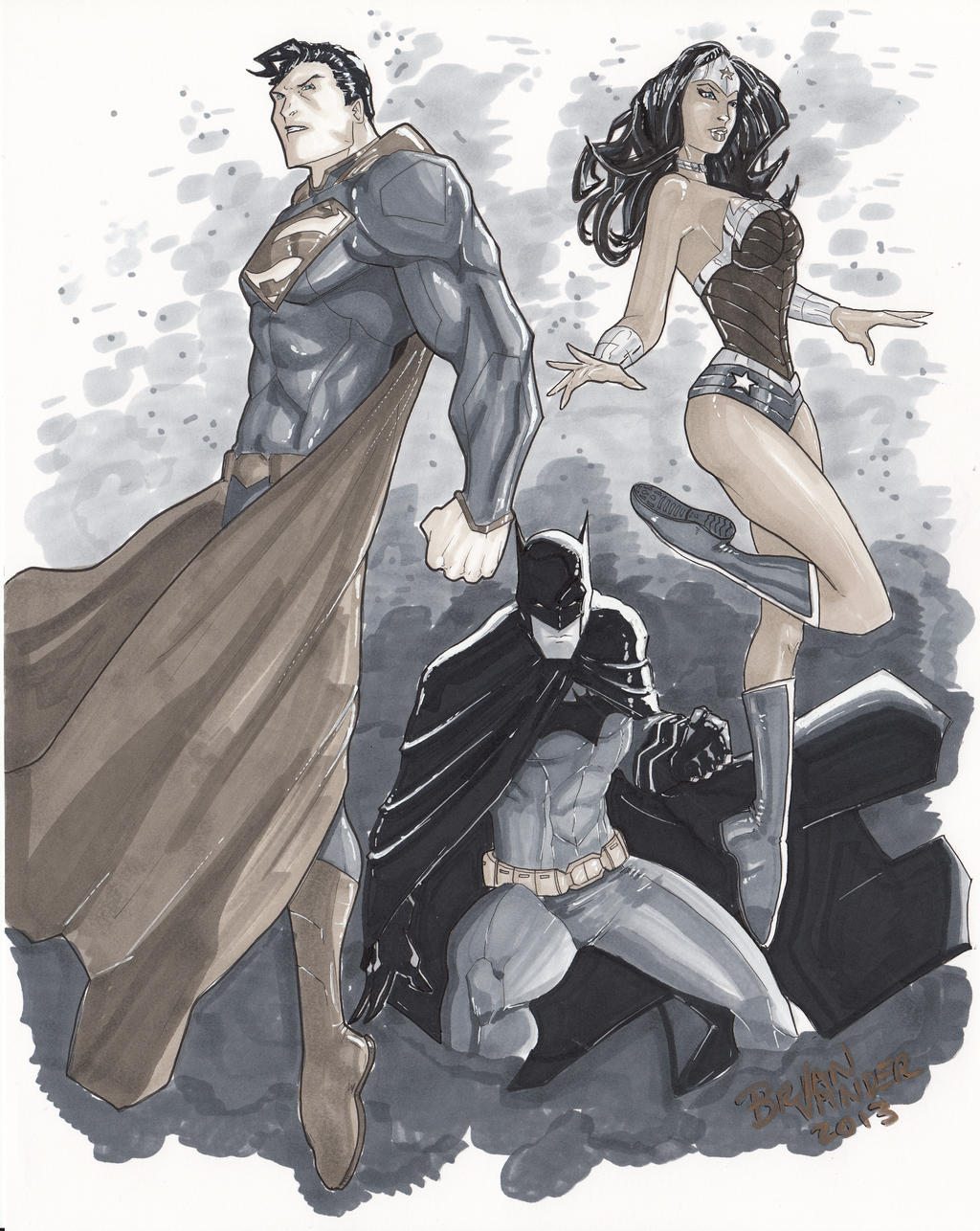 Superman Batman Wonder Woman by BrianVander