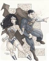 Superman Wonder Woman by BrianVander