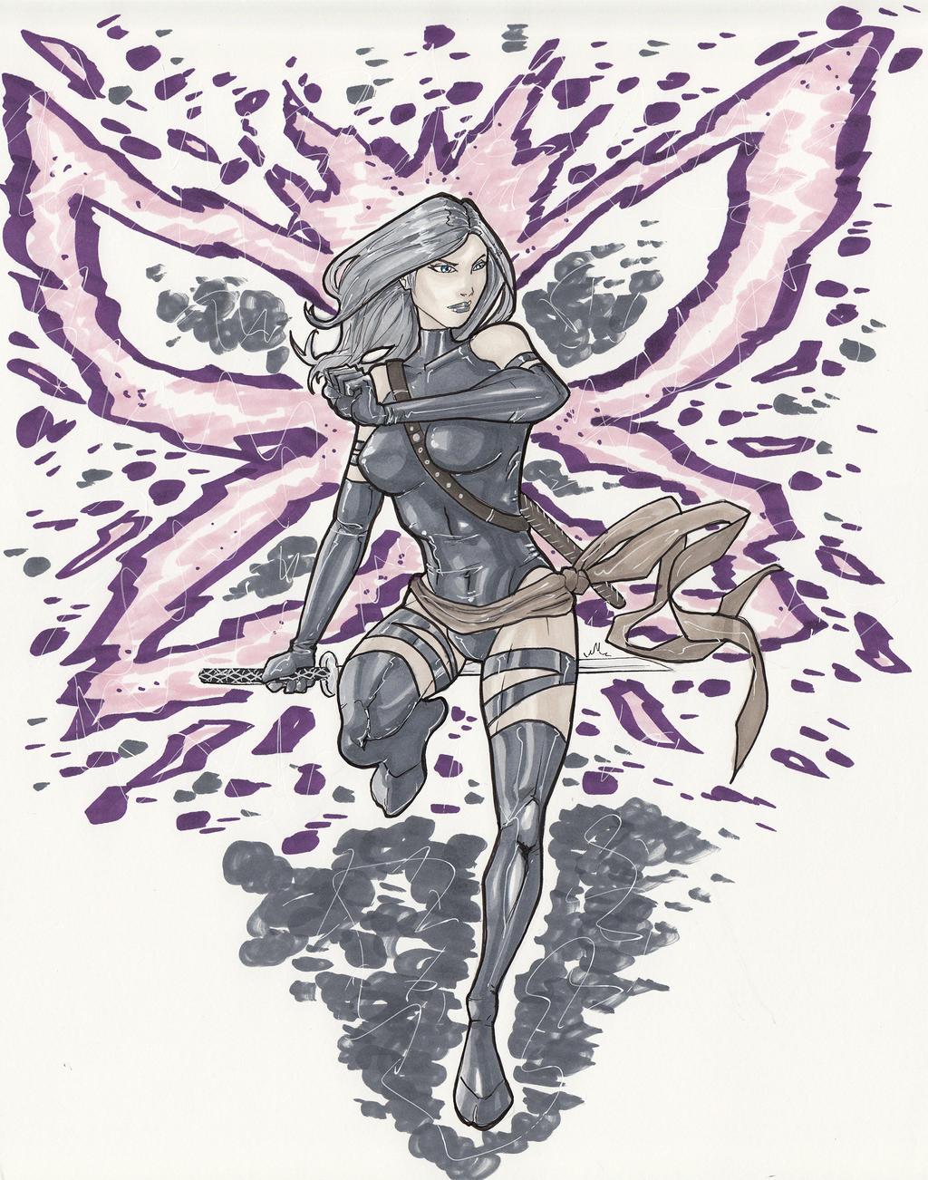 Psylocke by BrianVander