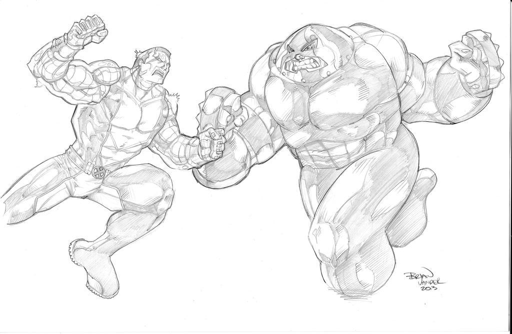 Colossus Vs Juggernaut By Brianvander On Deviantart