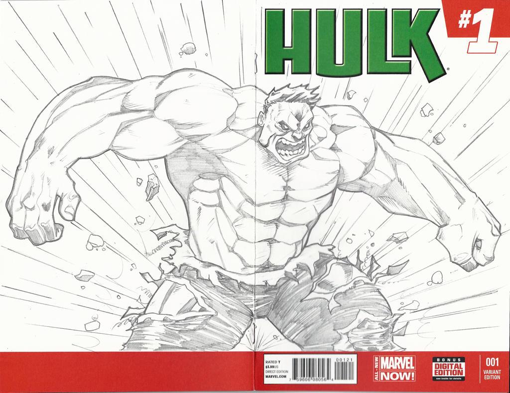 Hulk Sketch Cover by BrianVander