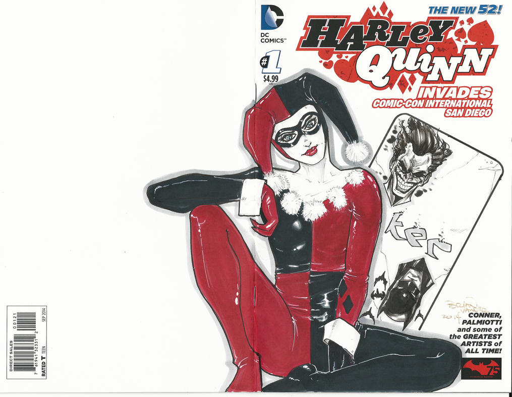 Harley Quinn Sketch Cover NYCC by BrianVander