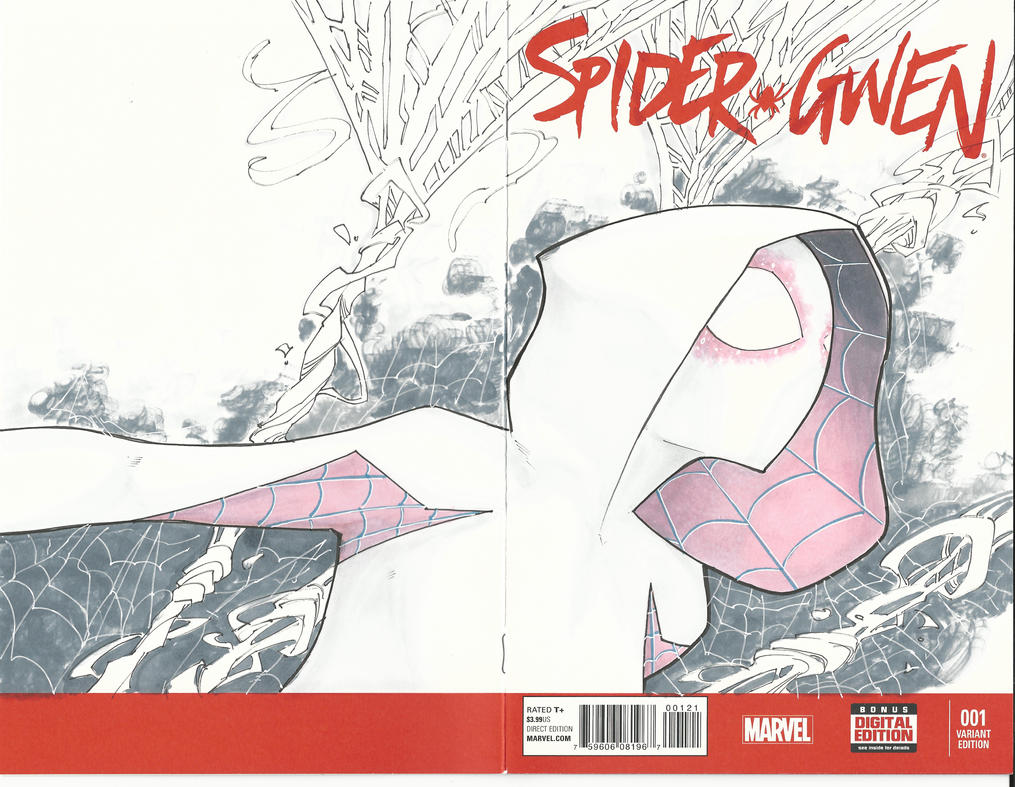 Spider Gwen Sketch Cover by BrianVander