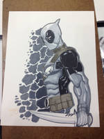 Indiana Comic Con 2105 Commission Deadpool by BrianVander