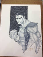 Indiana Comic Con 2105 Commission Colossus by BrianVander