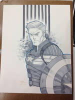 Indiana Comic Con 2105 Commission Captain America by BrianVander