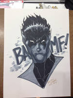 Indiana Comic Con 2105 Commission Nightcrawler by BrianVander