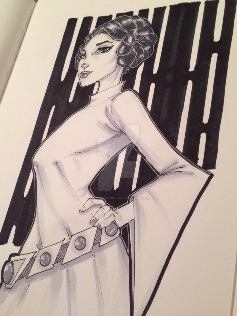 Princess Leia c2e2 commission by BrianVander