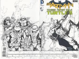 TMNT Batman Sketch Cover by BrianVander