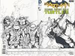 TMNT Batman Sketch Cover