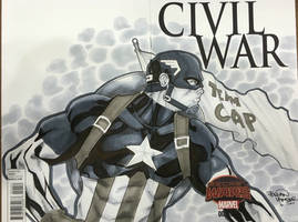 Captain America commission Indy Con 2016  by BrianVander