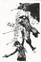 Wolverine Domino Commission by BrianVander
