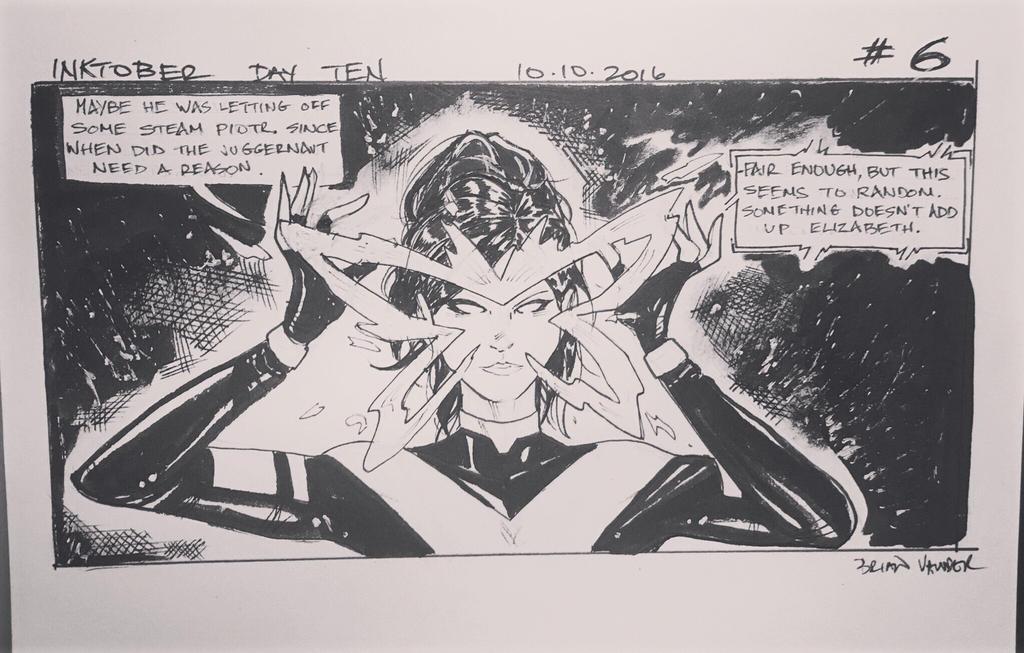 Inktober 2016 Day 10 X-Men story panel 6 by BrianVander