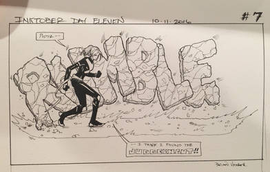 Inktober 2016 Day 11 X-Men story panel 7 by BrianVander