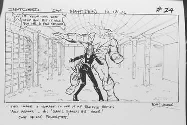 Inktober 2016 Day 18 X-Men story panel 14 by BrianVander