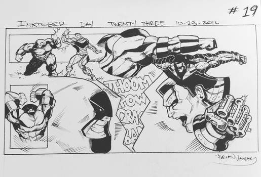 Inktober 2016 Day 23 X-Men story panel 19