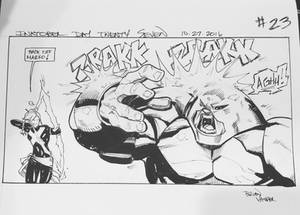 Inktober 2016 Day 27 X-Men story panel 23